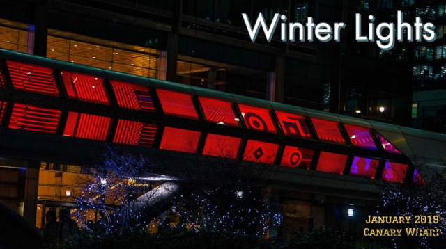 Winter Lights at Canary Wharf London