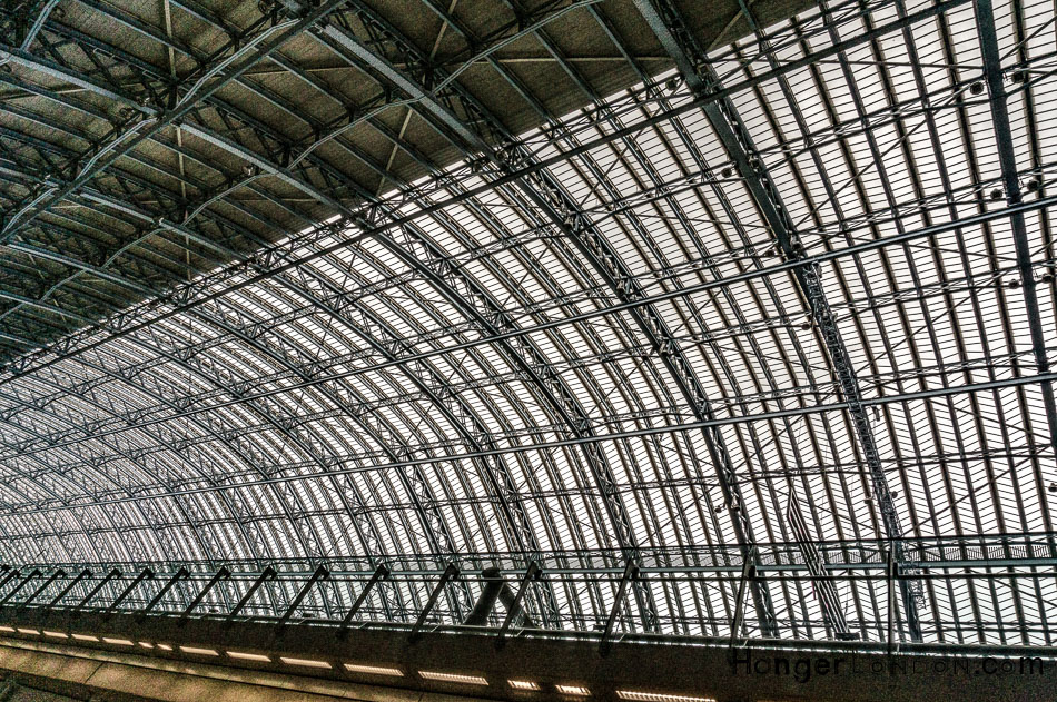London Railway Station architecture with Victorian engineered heritage