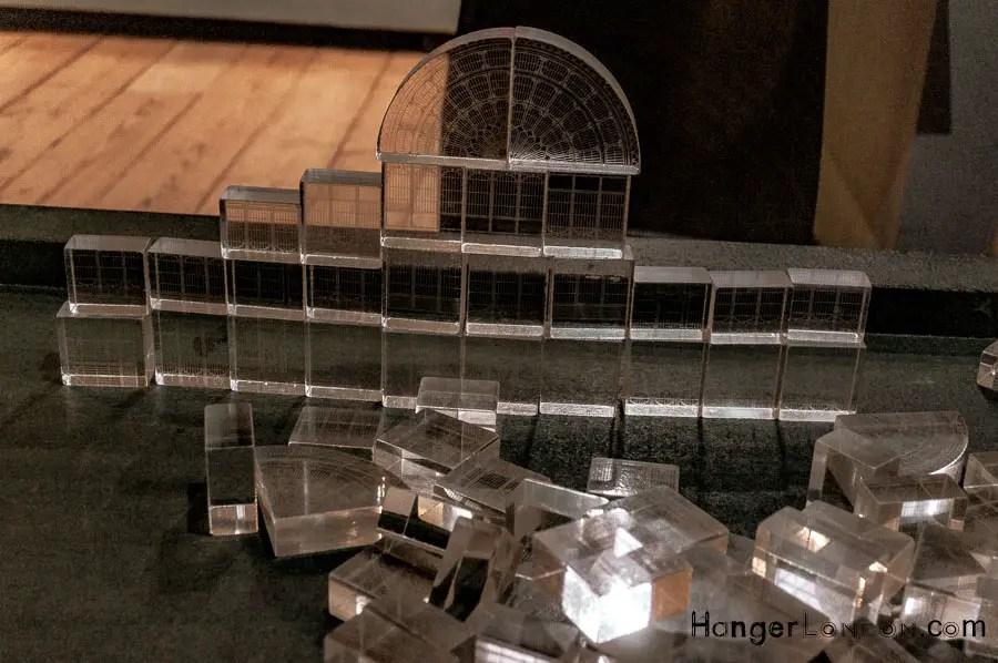Transparent building bricks to build Crystal Palace V&A Museum