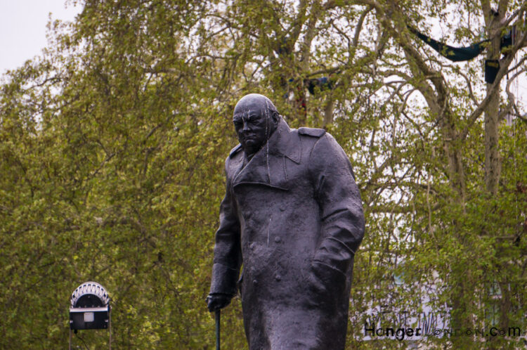 Parliament Square Churchill statue
