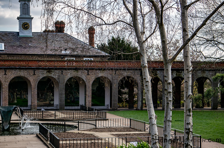 Holland Park vista archways