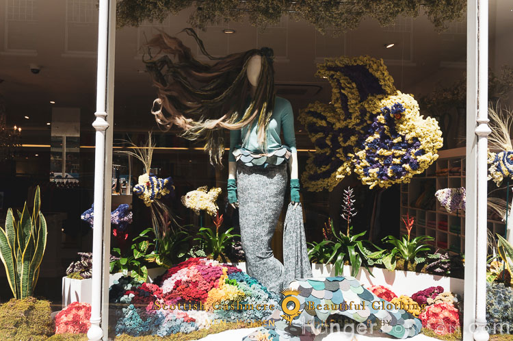 Scotland sea side theme for Brora shop front in bloom