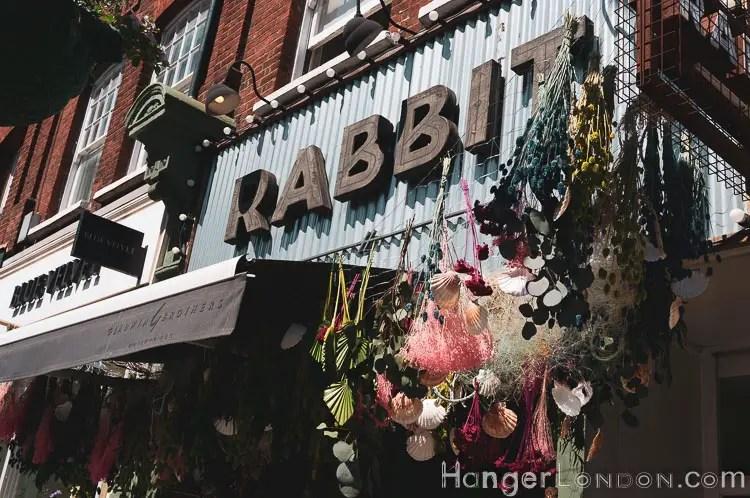 Window dressing at Rabbit store Chelsea
