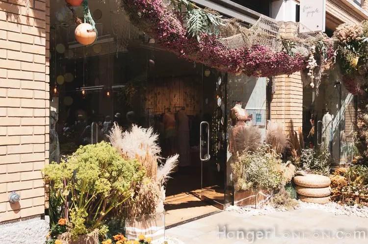 Free People shop window in Bloom
