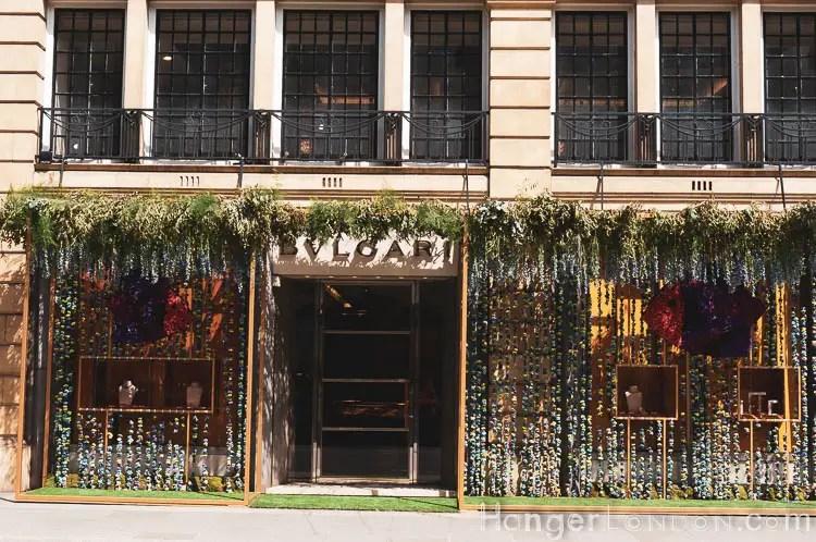 11 Bulgari store window in bloom
