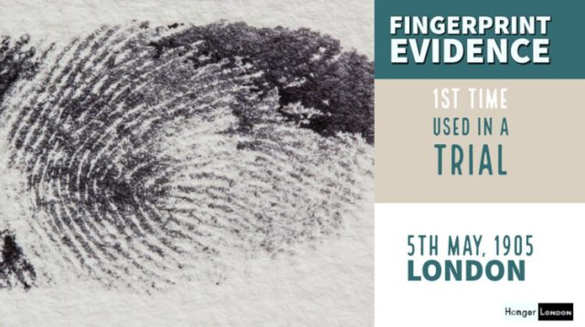 first time fingerprint evidence used in a trial
