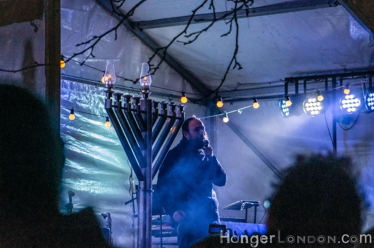 Menorah lighting Islington Rabbi Mendy