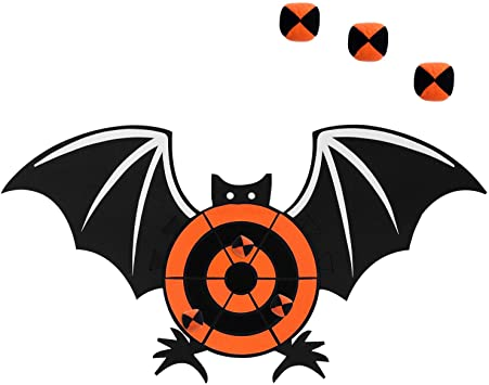 Aneco Halloween Bat Dart Board Sticky Balls Toys Games Spliceable Dart Board Kit for Halloween Toy Games, 1 Dart Board and 6 Balls 1
