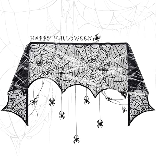 GIGALUMI Halloween spider web lace cloth 60g cobwebs 30 spiders horror halloween spider web decoration set for Halloween d?cor party carnival 1
