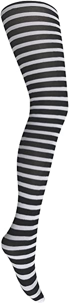 Mysasi London Ladies Striped Tights - Medium -Extra Large- Colours Available 1