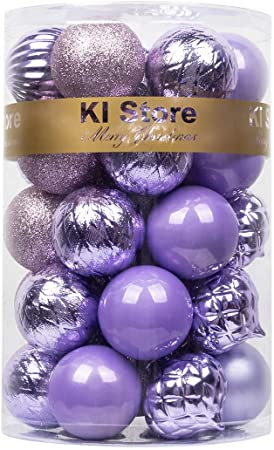 60mm Purple Christmas Baubles 34pcs 1
