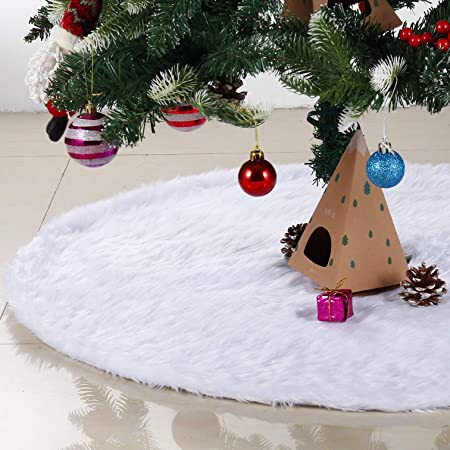 48inch Christmas Tree Skirts,Snow White 1