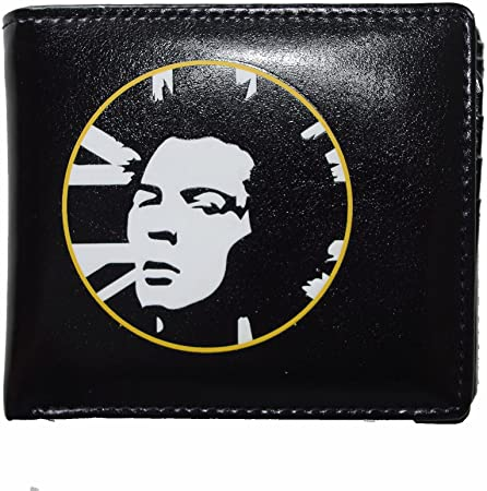 Mens Embossed Black Wallet - Sid Vicious 1