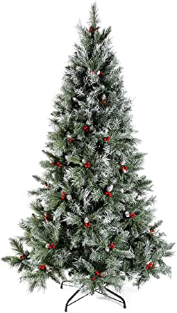 6ft Scandinavian Blue Spruce Christmas Tree with Pine Cones 1
