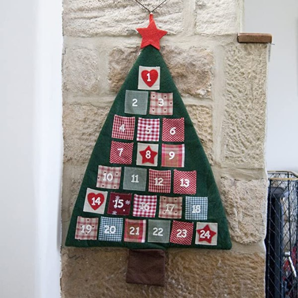 Fabric Christmas Tree Advent Calendar 1