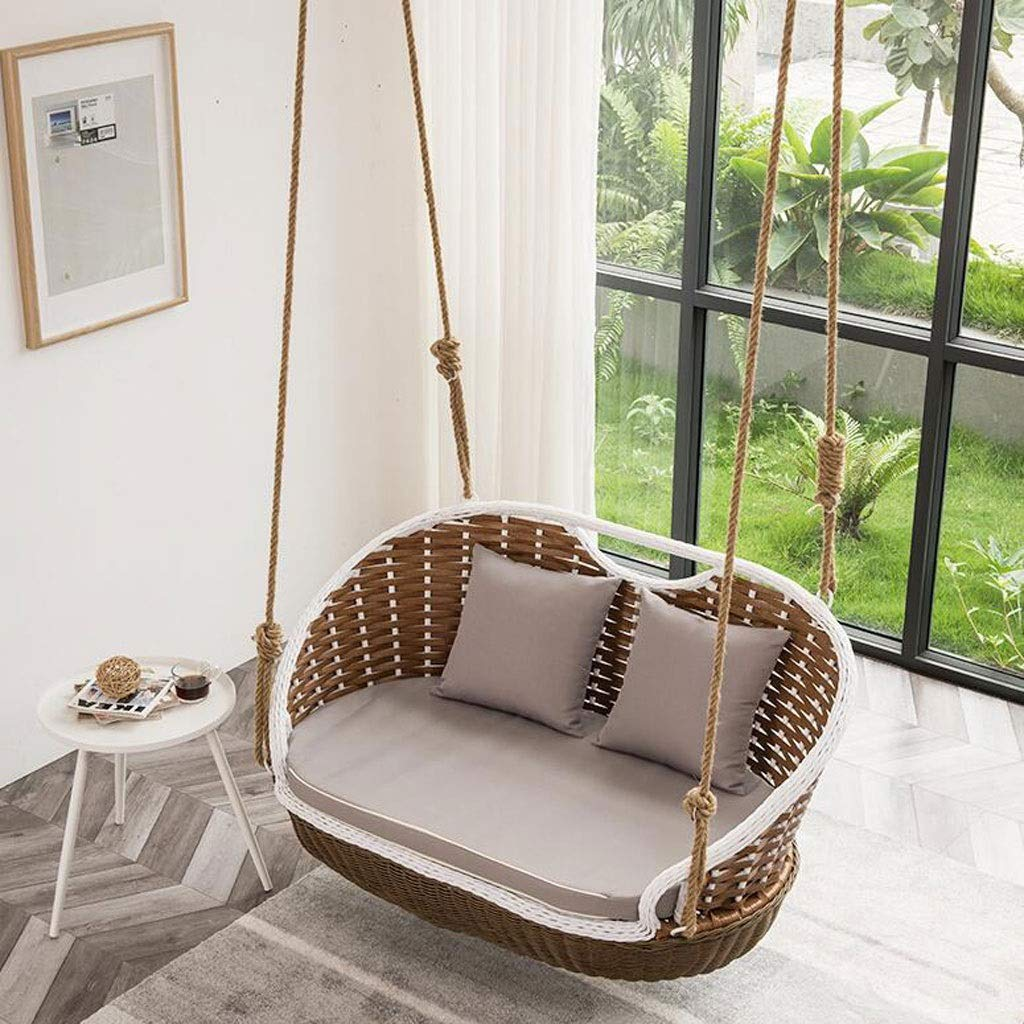 double hanging chaise lounger for two