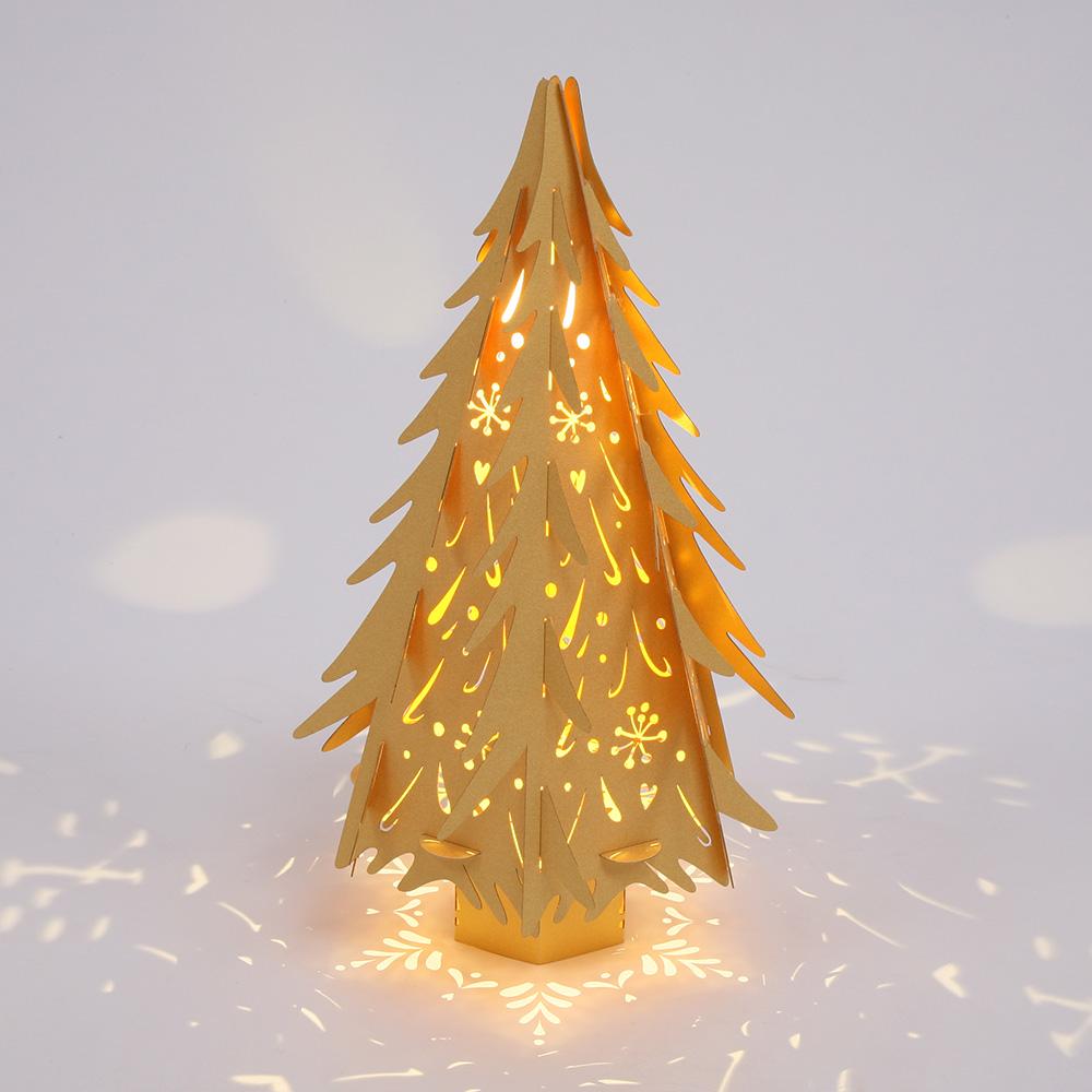 Small Gold Christmas Tree H36cm Hanging Lantern Company
