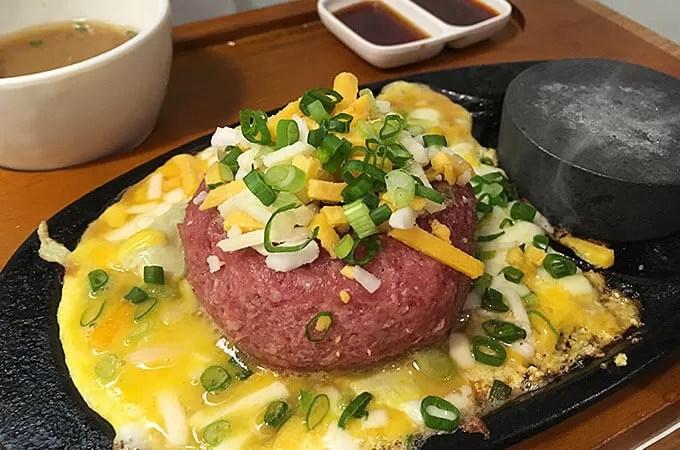 福岡ハンバーグのエッグチーズハンバーグ