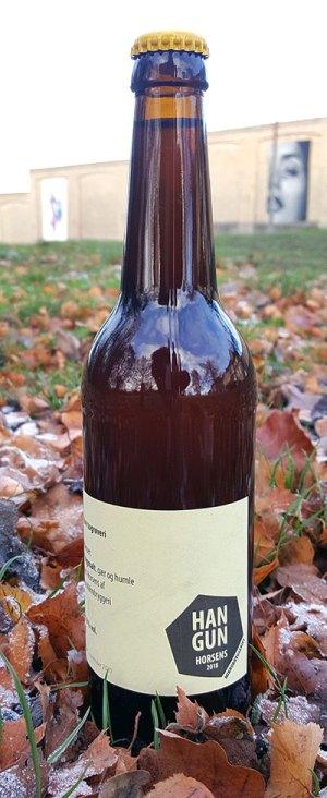 Det store togrøveri øl i halvliters flaske fra Hangun Mikrobryggeri