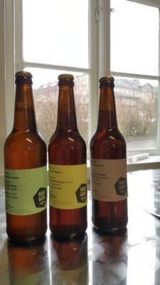 Tre øl fra Hangun Mikrobryggeri