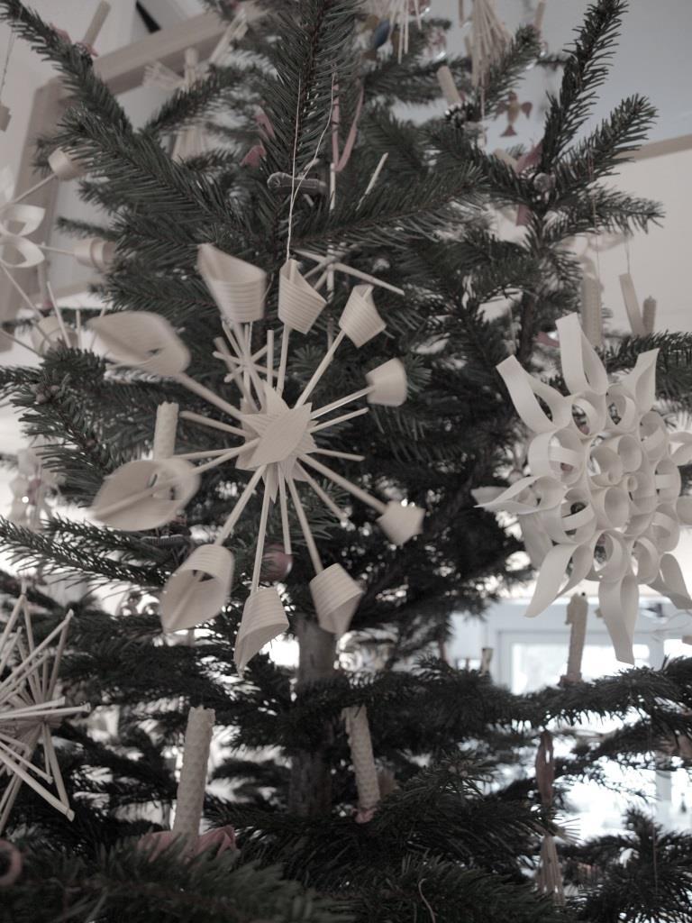 Achtet darauf dass eure Sterne frei am Christbaum hängen können und Platz haben um ihre volle Wirkung entfalten zu können
