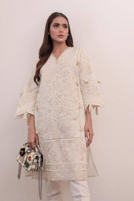 Embroidered Kurti Top SS20SGE105