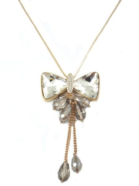 Bow Chain Necklace - Black