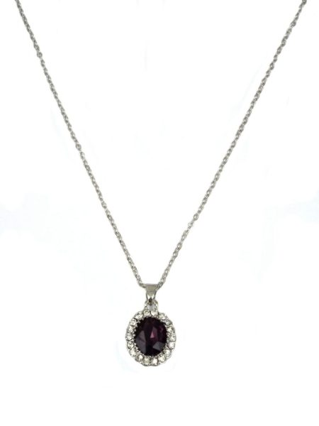 3 ASSORTED CLASSIC DELICATE NECKLACE - AMETHYST