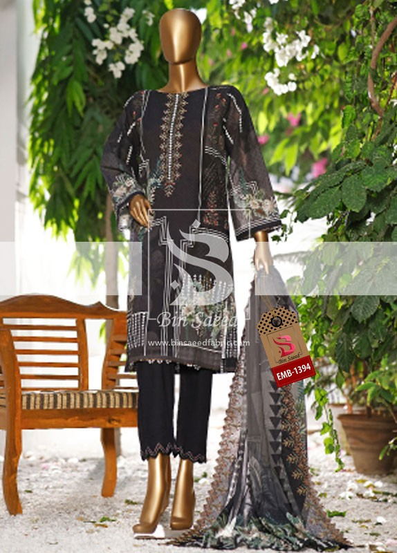 Summer Embroidered Lawn Collection Vol-1 EMB-1394 2