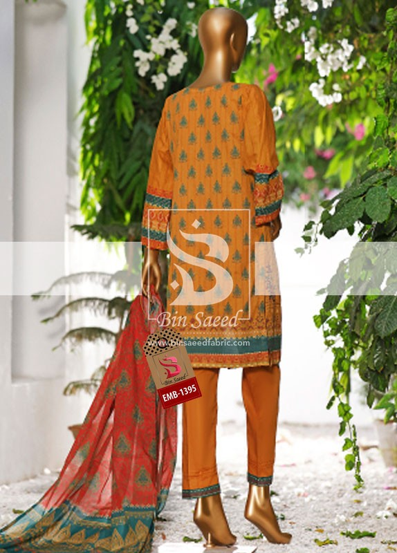 Summer Embroidered Lawn Collection Vol-1 EMB-1395 3