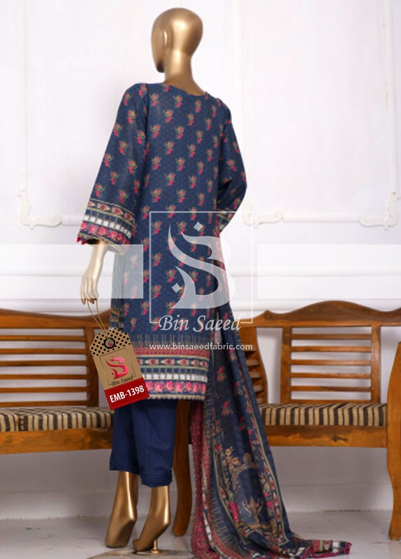 Summer Embroidered Lawn Collection Vol-1 EMB-1398 3