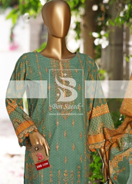 Summer Embroidered Lawn Collection Vol-1 EMB-1399