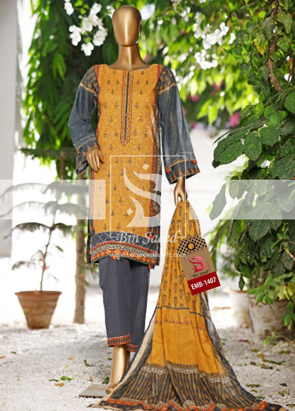 Summer Embroidered Lawn Collection Vol-1 EMB-1407 2
