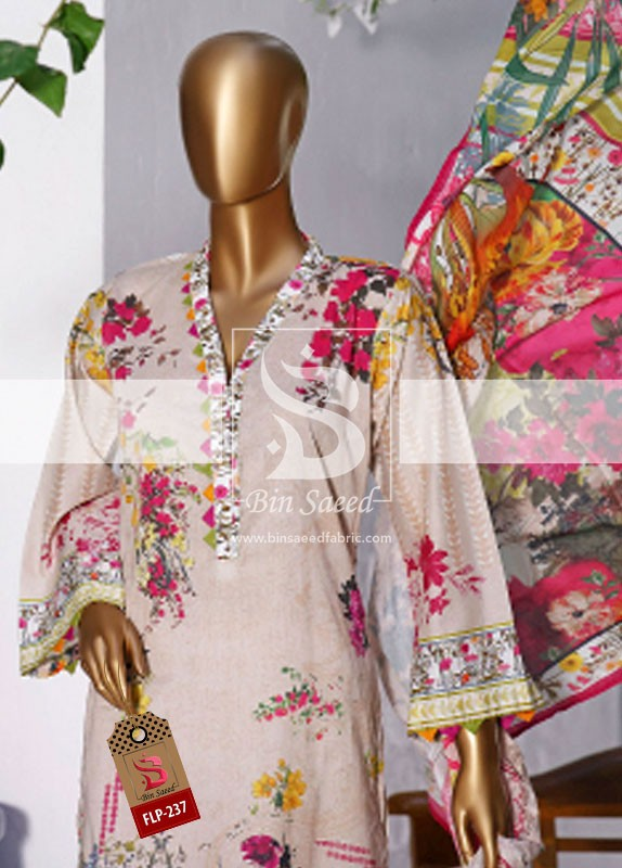 Summer Embroidered Lawn Collection Vol-1 FLP-237 1