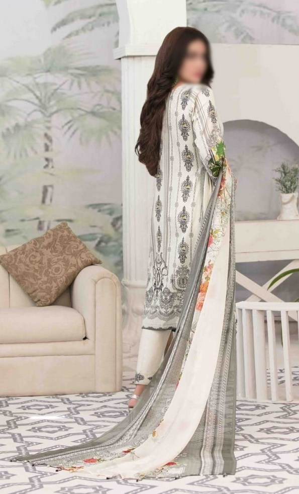 Summer Medley Lawn Printed And Embroidered Collection D-1476 A 3