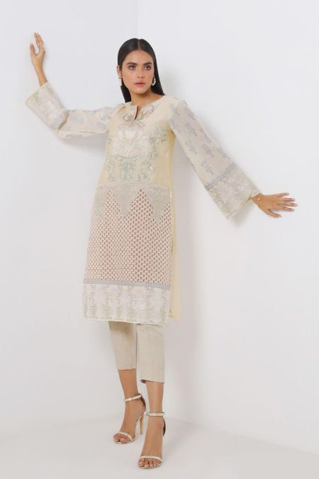 Embroidered Kurti Top SS20SGE179