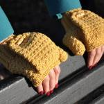 Warm Mustard Mitts by HanJan Crochet Hannah Cross crochet pattern