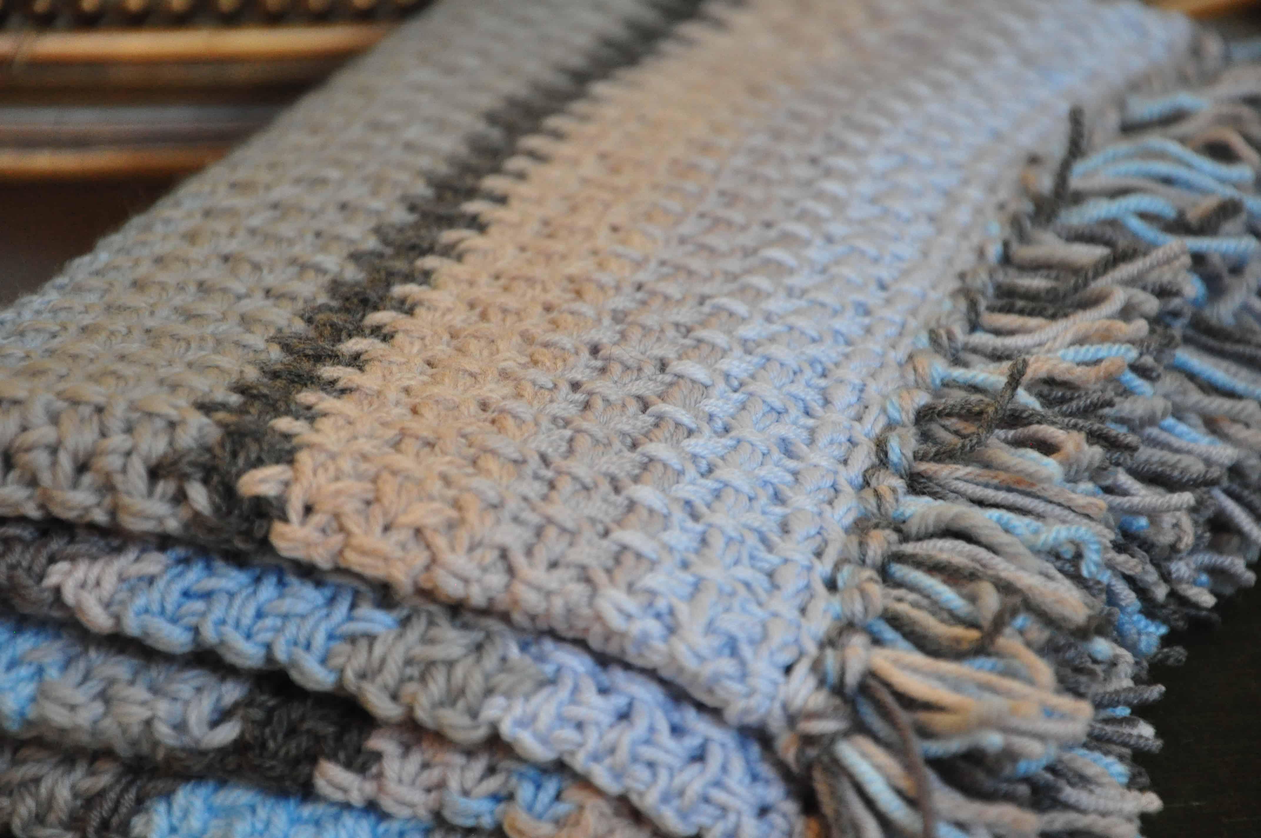 New Pattern: Henry's Waffle Crochet Blanket