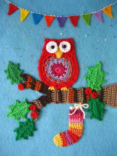 Attic24 Lucy crochet blogger and designer christmas owl