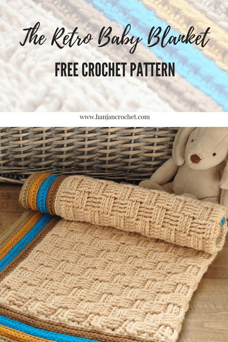 The Retro Baby Blanket Free Crochet Pattern Hanjan Crochet