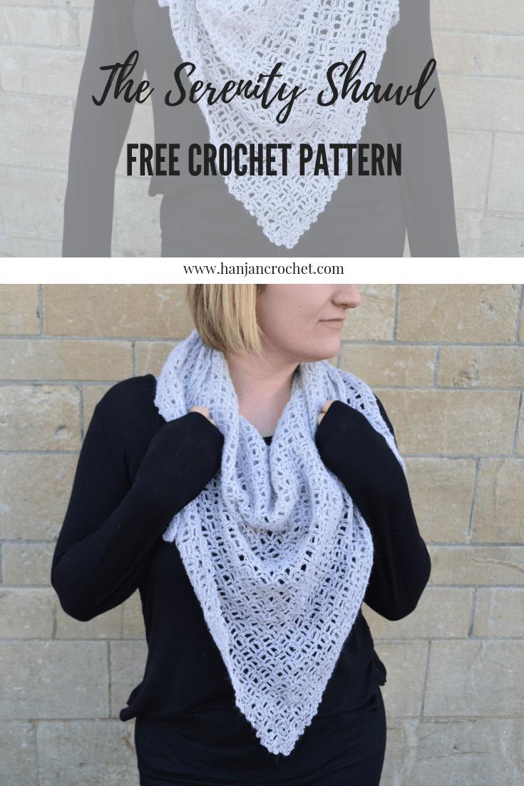 The Serenity Shawl Free C2c Crochet Pattern Hanjan Crochet