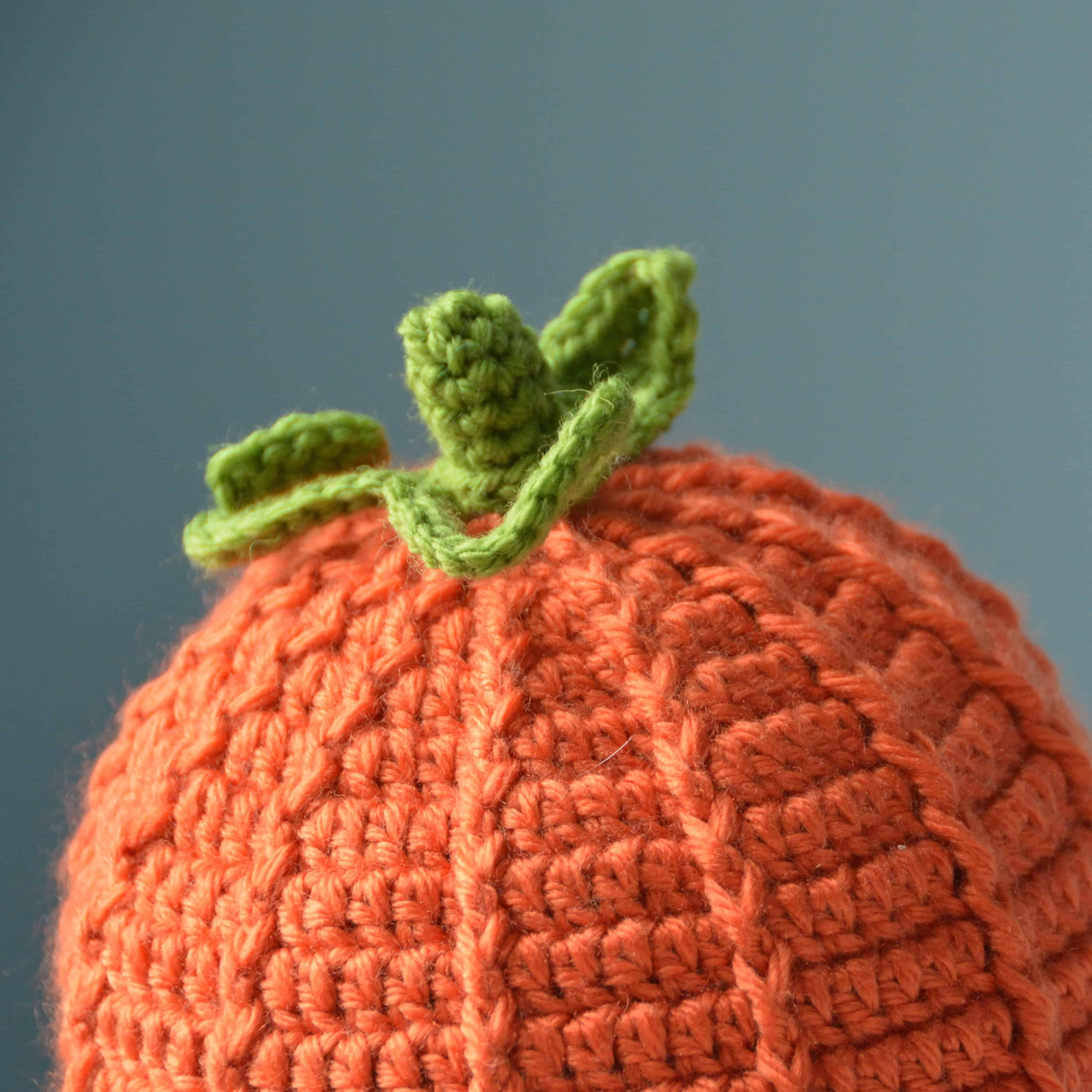 free crochet pattern pumpkin hat