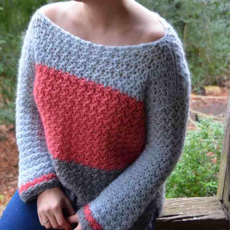 387622de1 The Colour Block Jumper – Free Crochet Pattern – HanJan Crochet