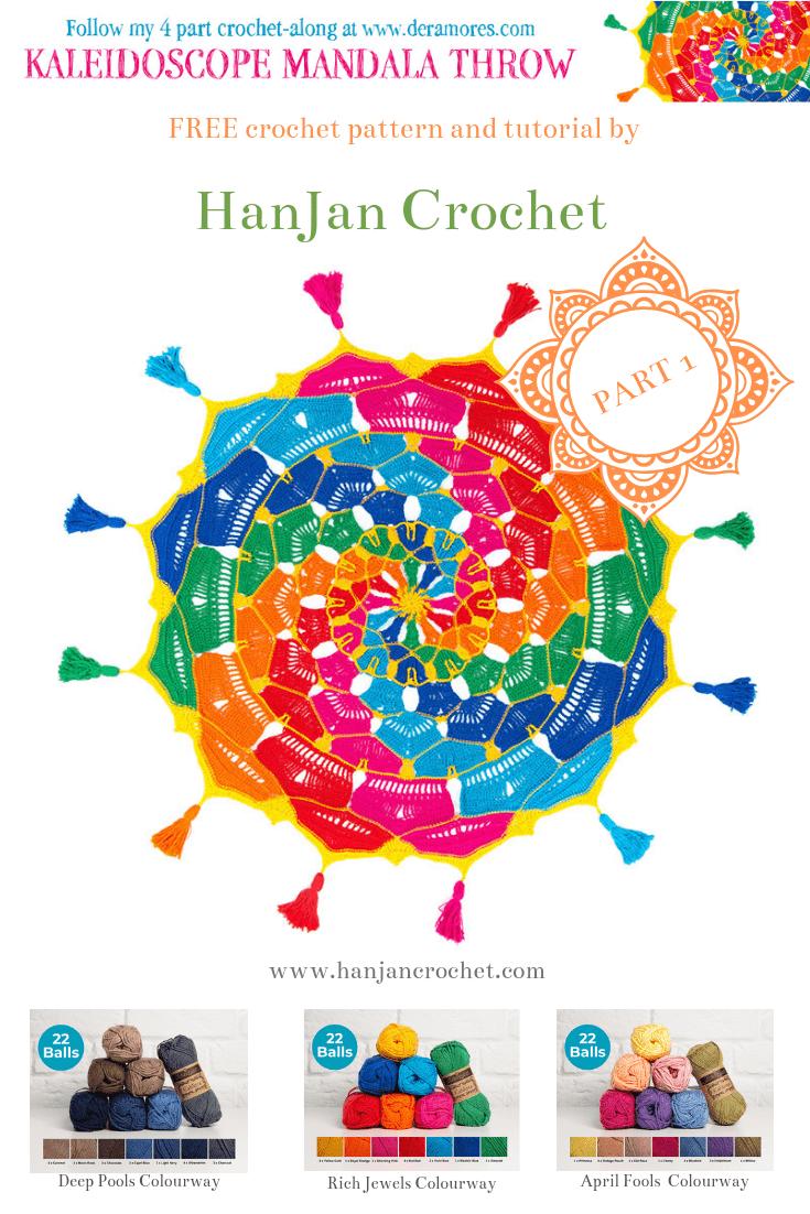 The Kaleidoscope Mandala Throw Cal Part One Free Crochet Pattern