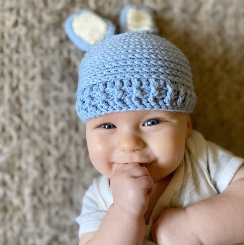 Baby Bunny Hats by HanJan Crochet