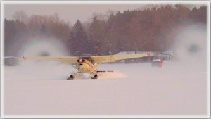 0010 # 007623 Snow Vortices from a Cessna 185 on skis STD_7623