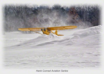 Piper J-3 on Skis