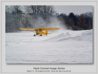 Piper Cub on Skis