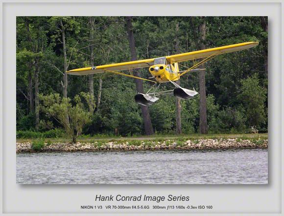 PA-18 on Skis Landing