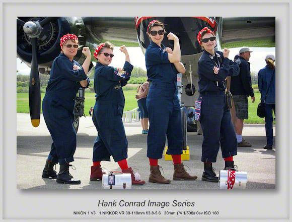 Rosie the Riveter Reenactors at the 75th Doolittle Raid Anniversary